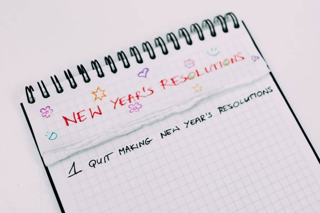 Notebook - stop making new year's resolutions