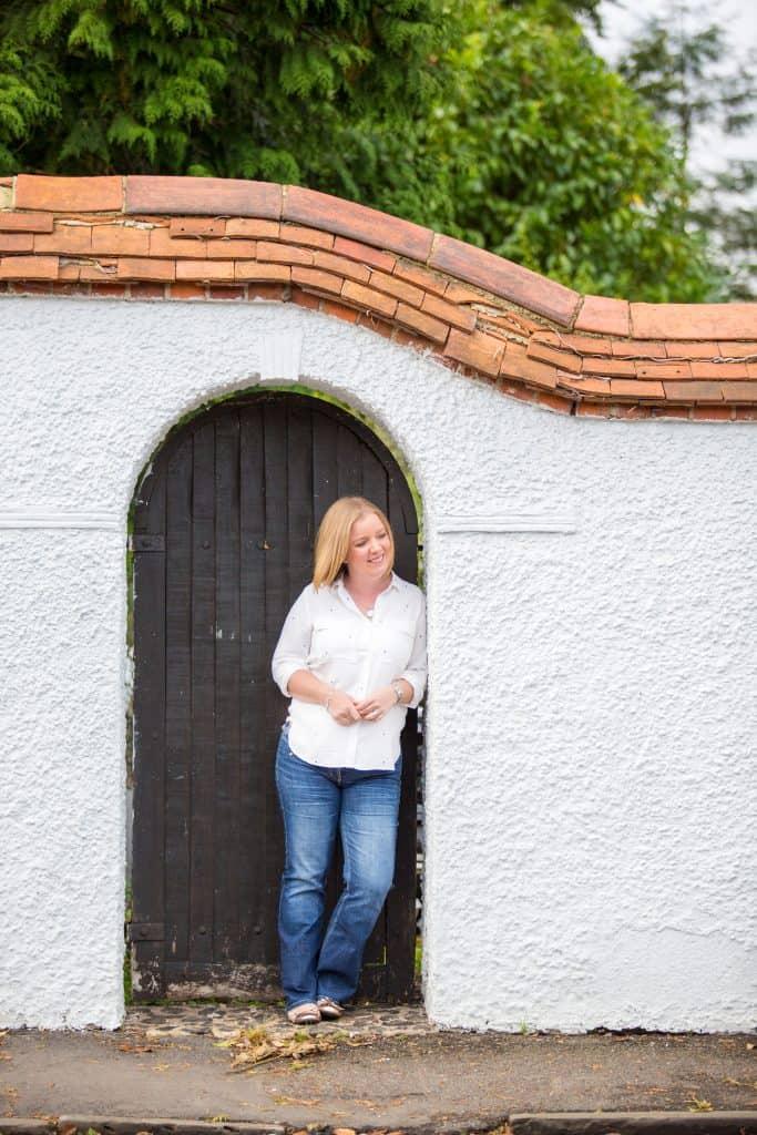Anna Verghese standing in a doorway