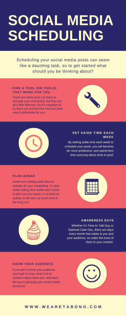 social media scheduling infograpic