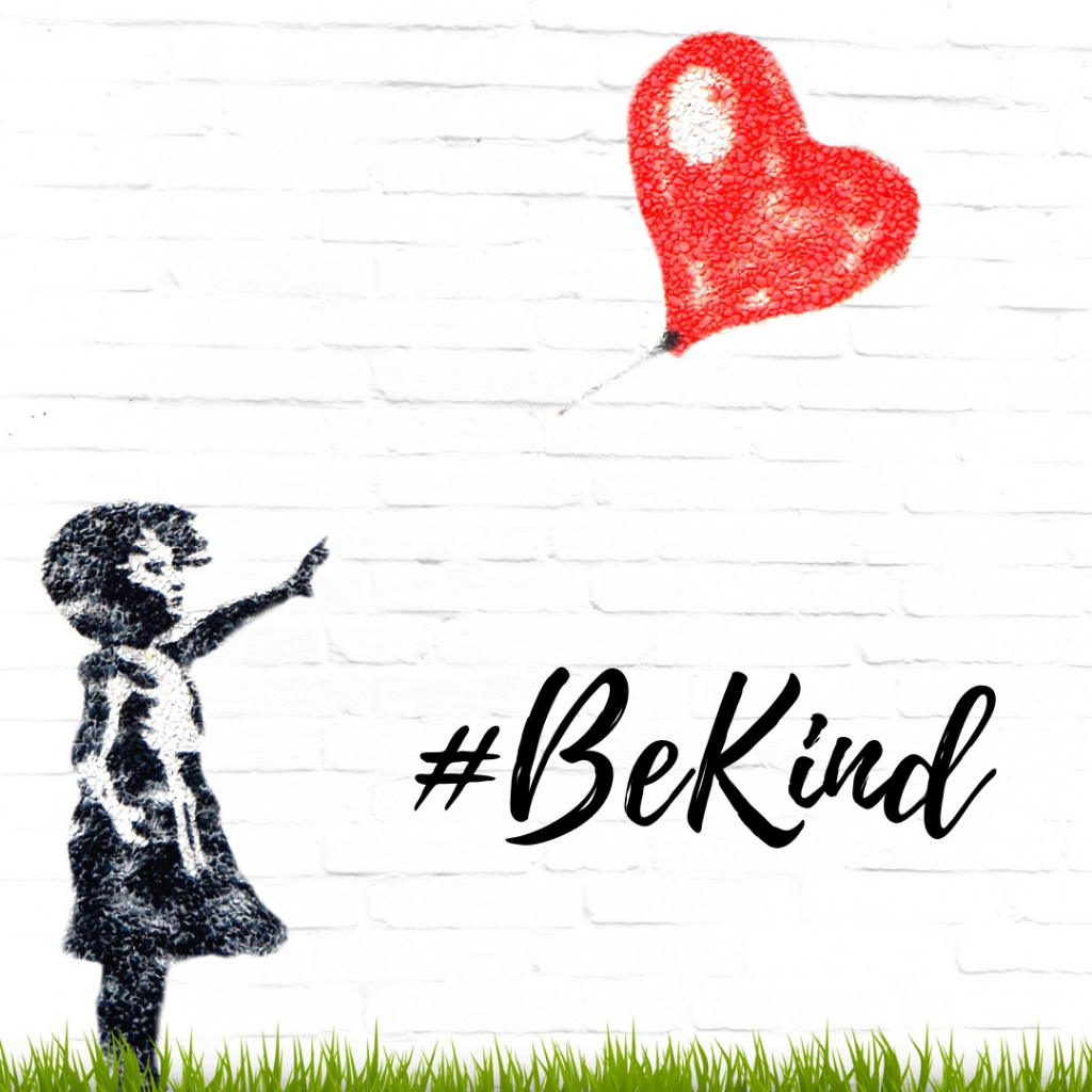 be kind writing on wall
