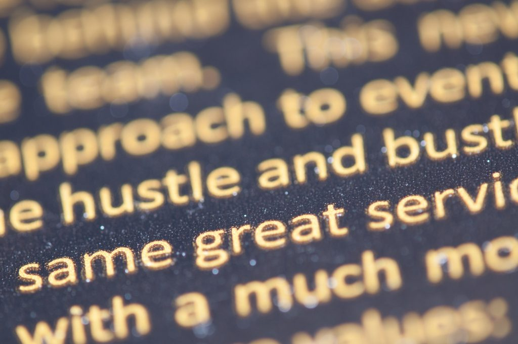 words to describe your business