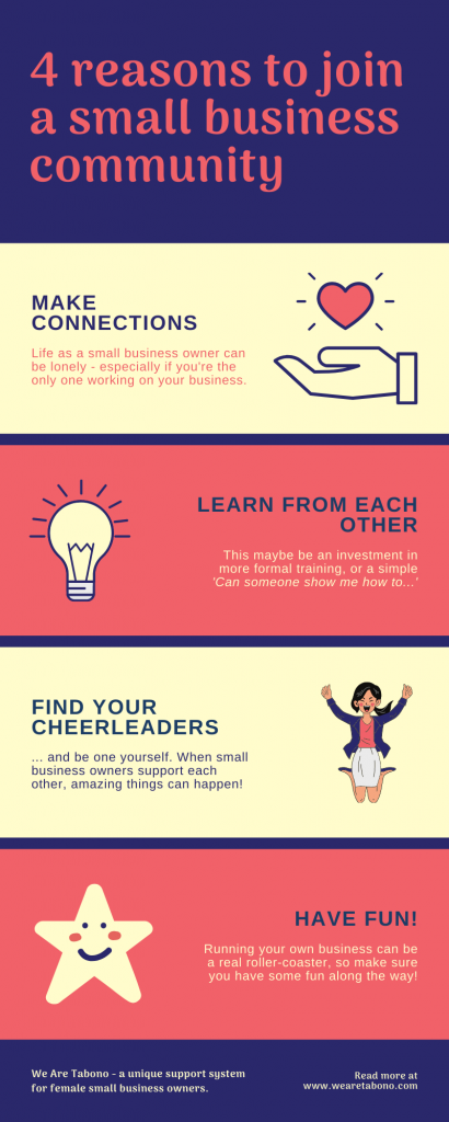 infographic on 4 reasons to join a small business community