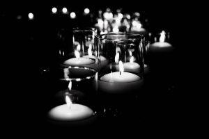 candles black and white